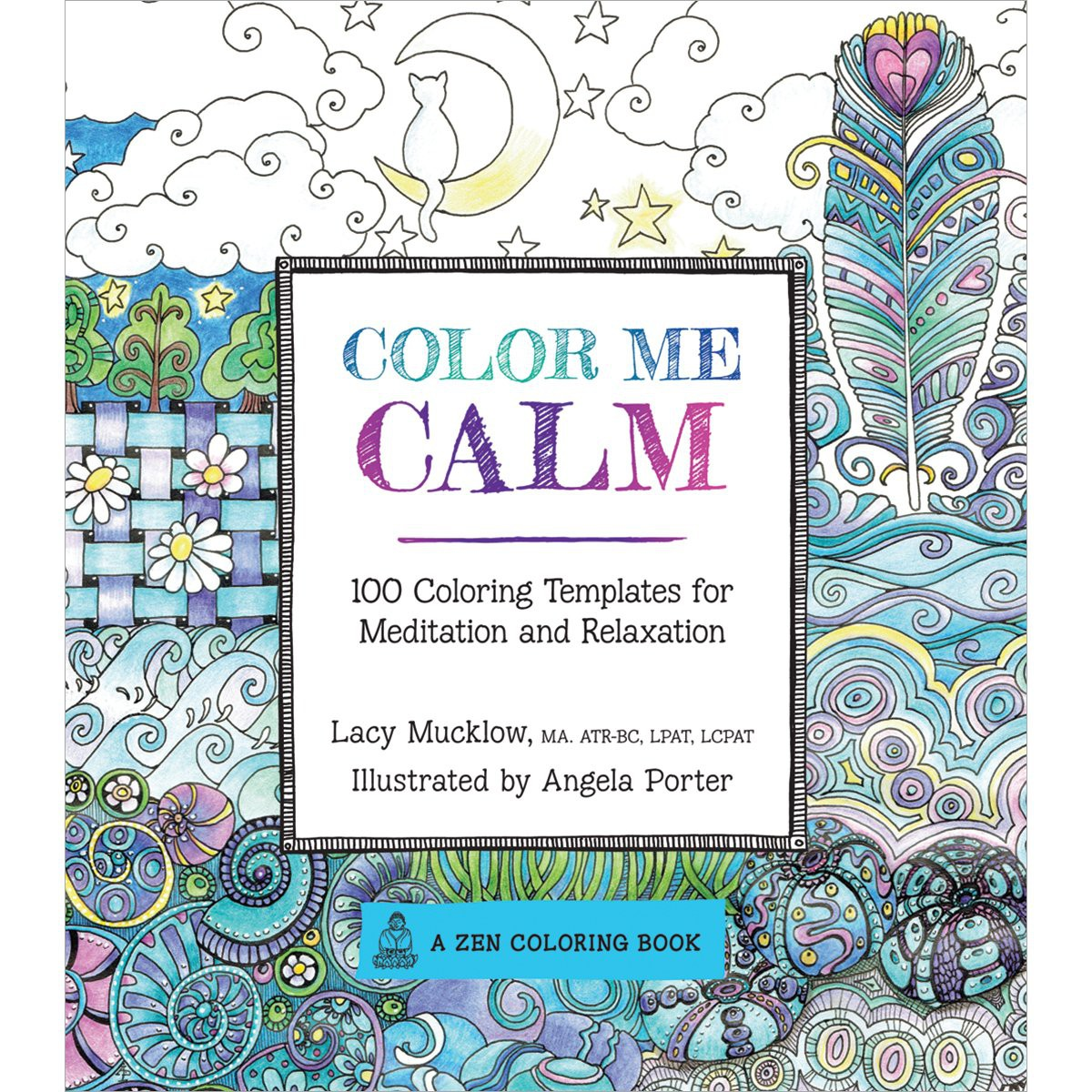 color me calm adult coloring book