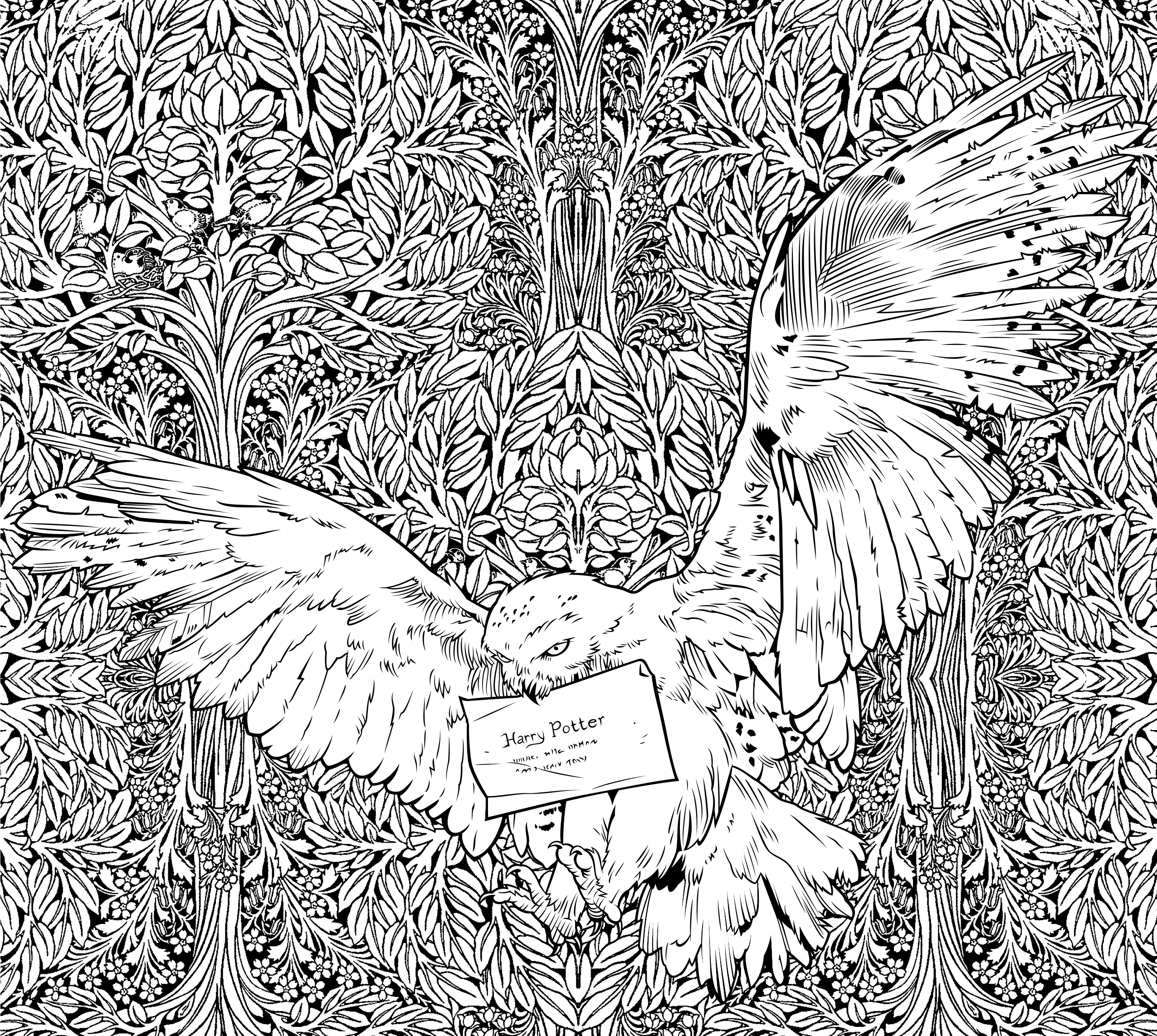 harry potter official coloring book