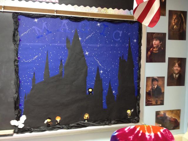 Harry potter themed classroom Bulletin Board