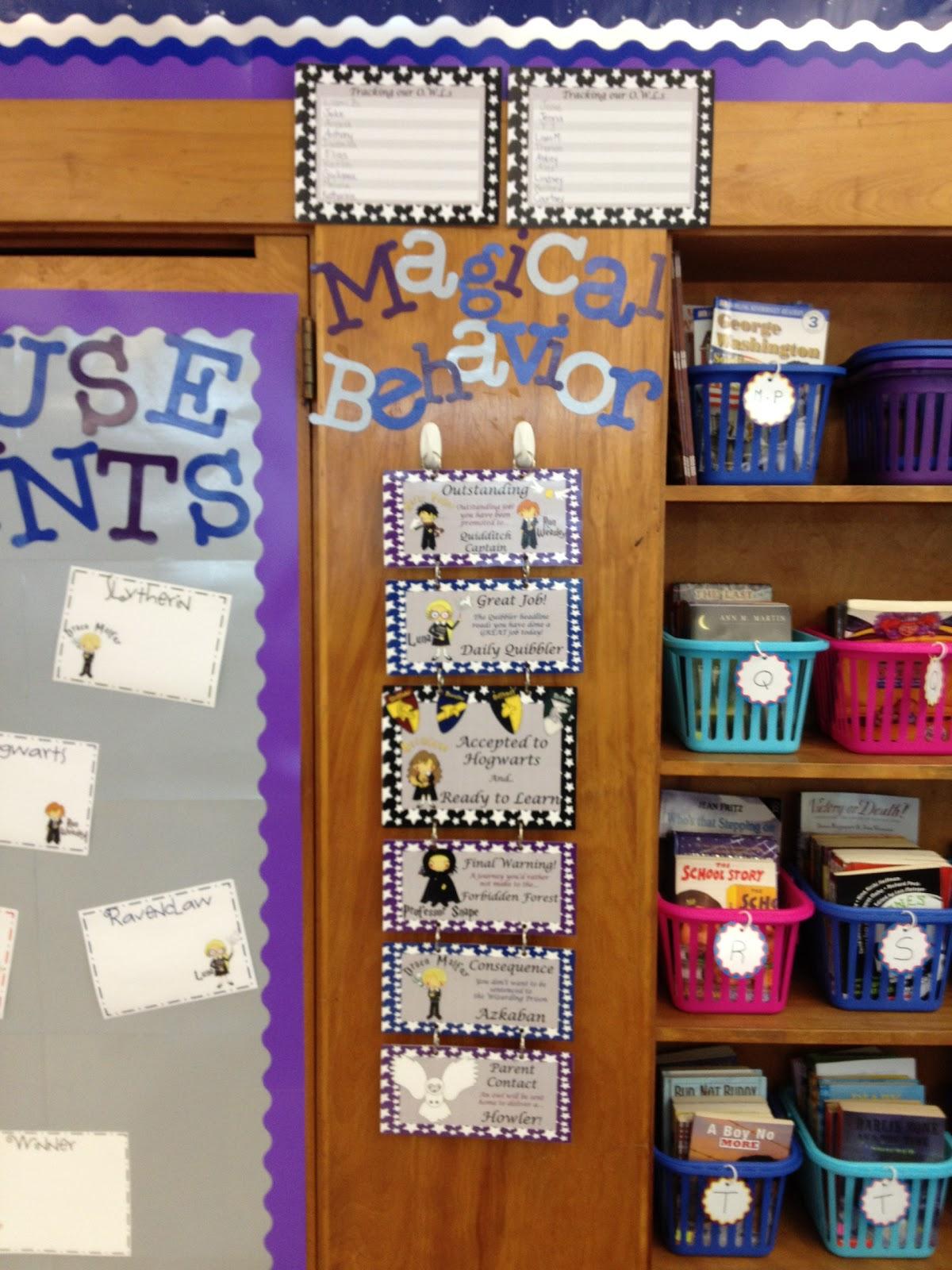 harry potter themed classroom behavior chart