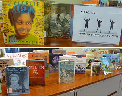 womens history month library display