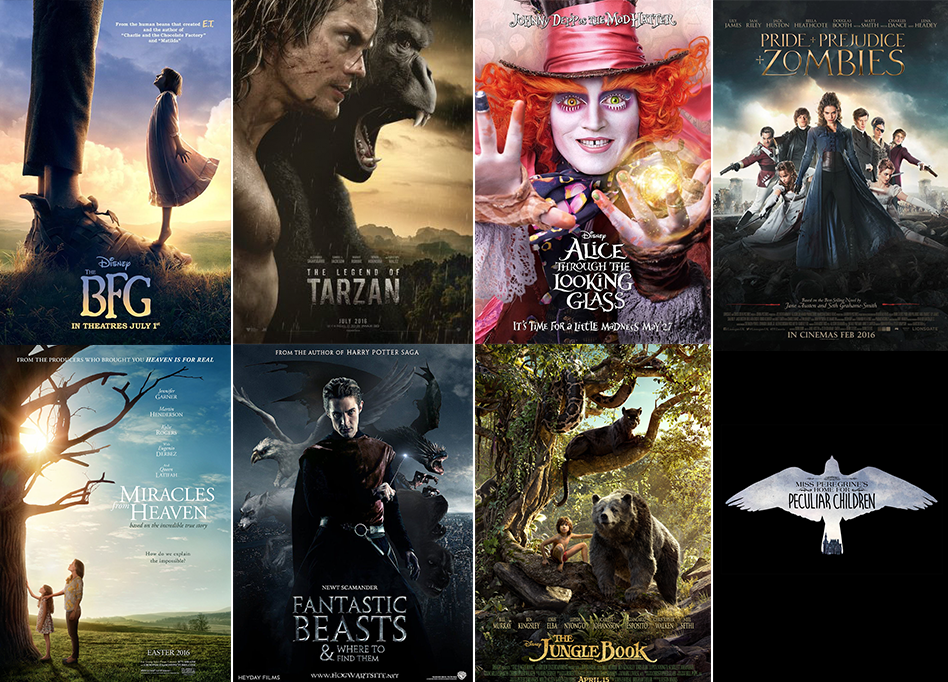 book to movie 2016