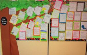 Poet Tree: Spring Bulletin Board