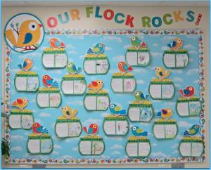 flock: spring bulletin board