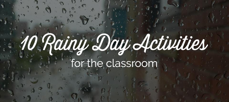 Rainy Day Recess Activities