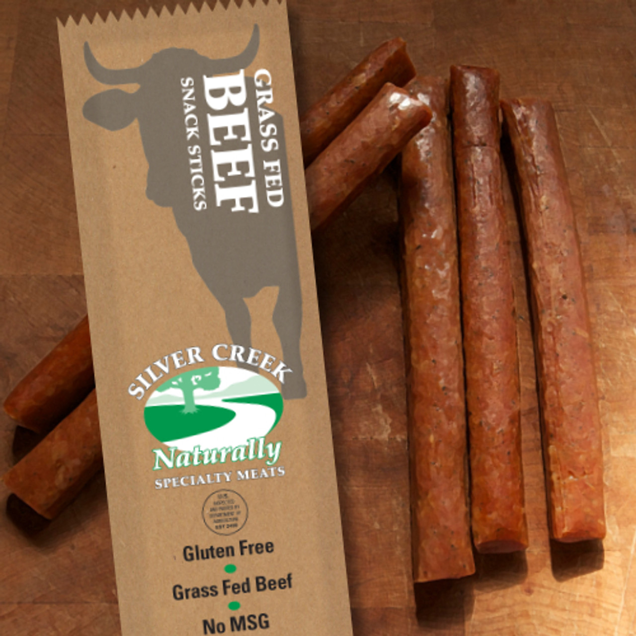 1.2 oz Package of 100% Beef Snack Sticks