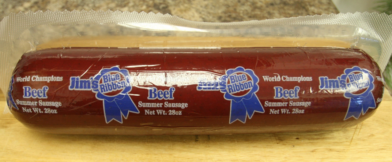 Jim's Blue Ribbon Beef Summer Sausage 28 oz.