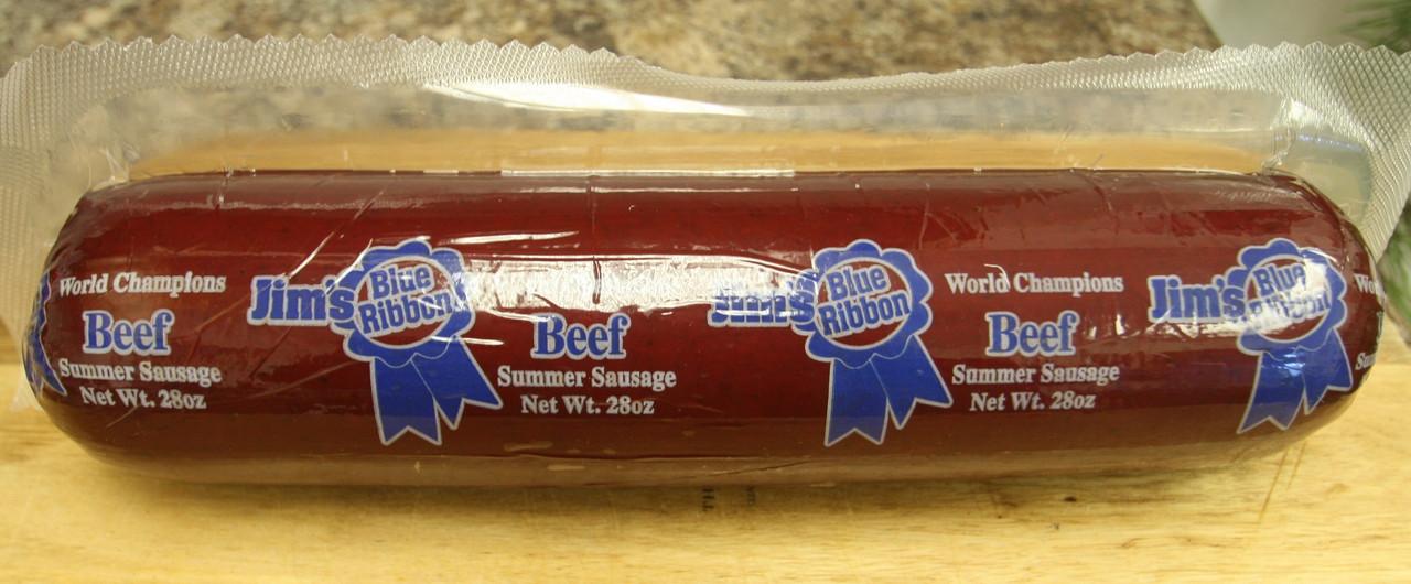 Jim's Blue Ribbon Beef Summer Sausage 28 oz.