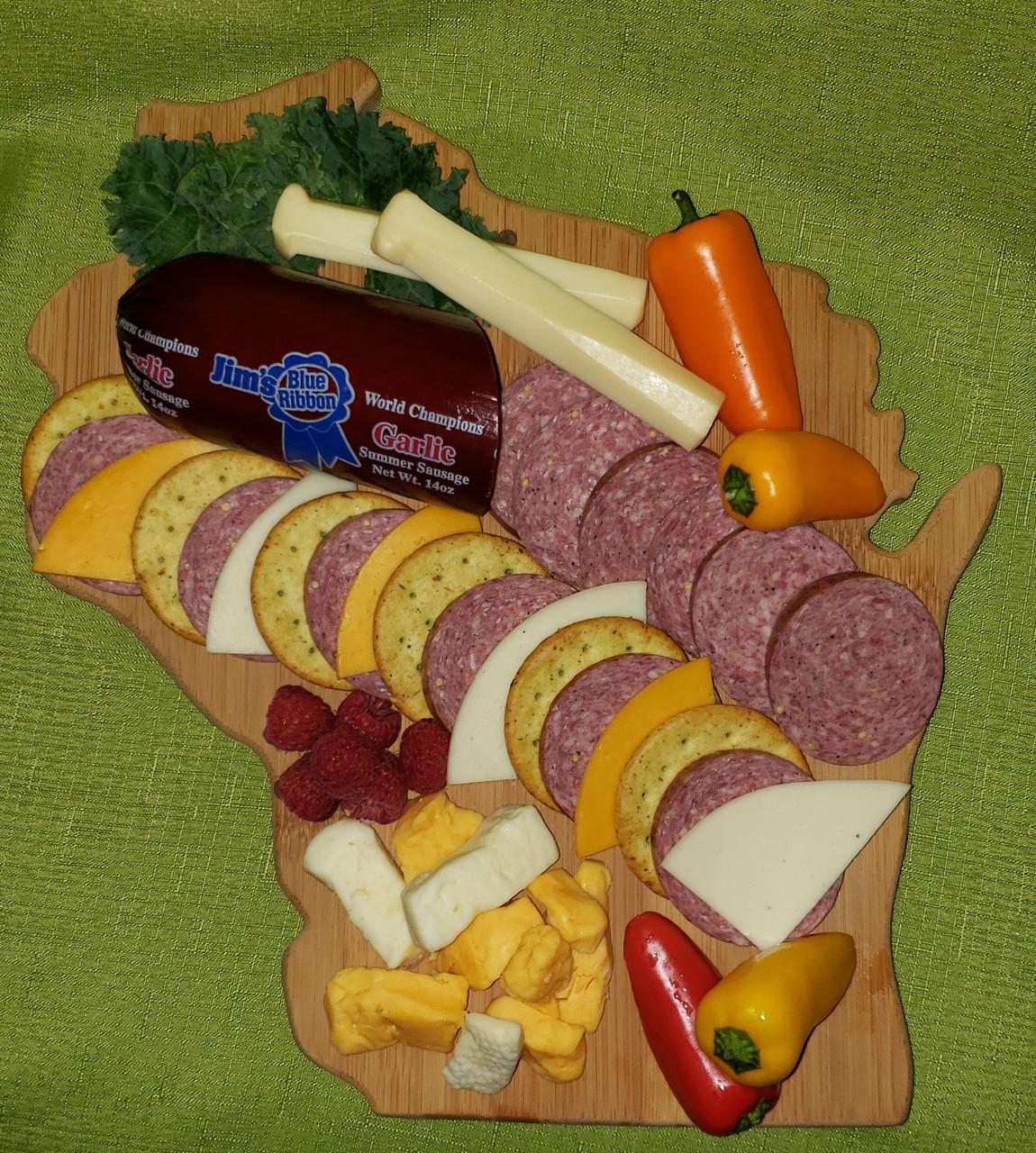 Jim's Blue Ribbon Garlic Summer Sausage 28 oz.