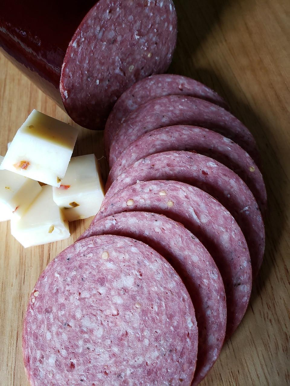Silver Creek Venison Summer Sausage with pork & beef  1 lbs.