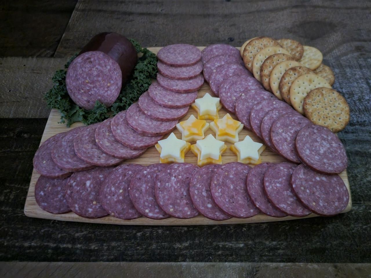 Silver Creek Buffalo Summer Sausage with pork & beef 8 oz.