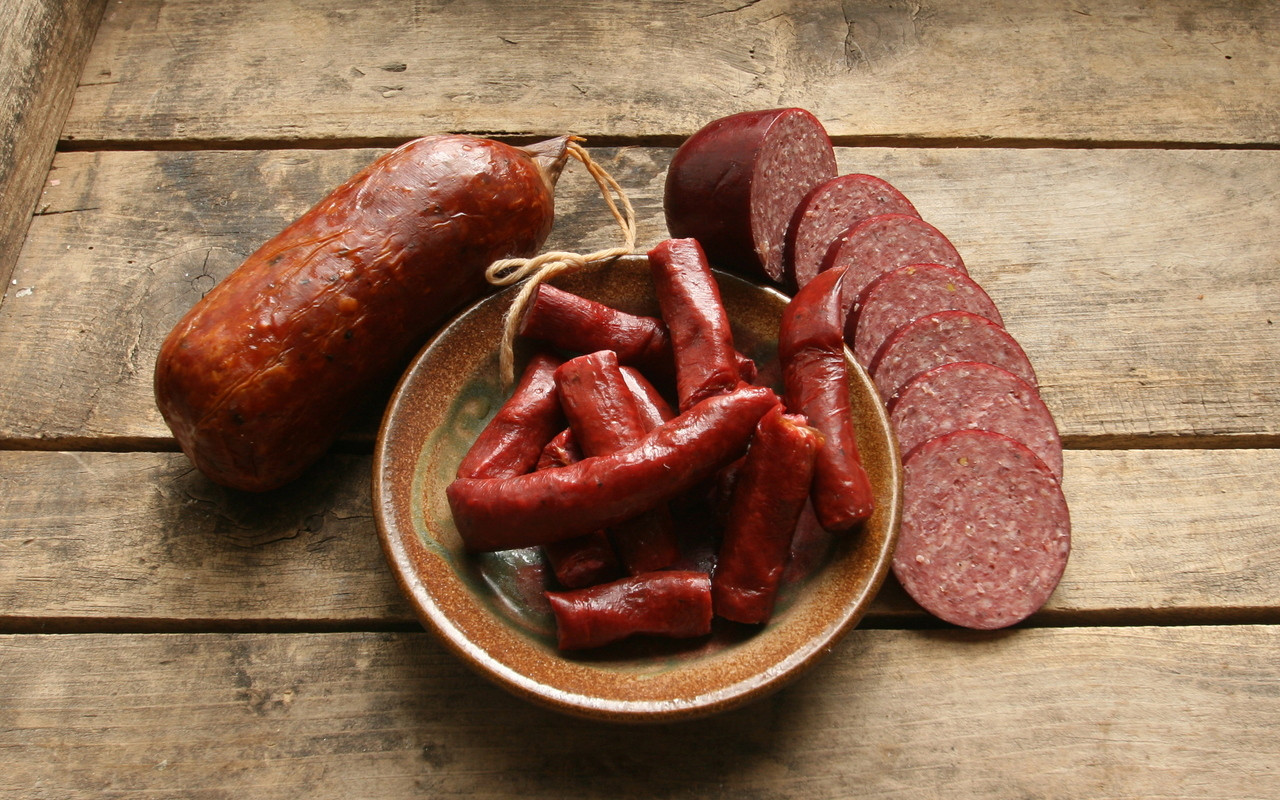 Elk Summer Sausage with a Pheasant Summer and Elk Ends and Pieces