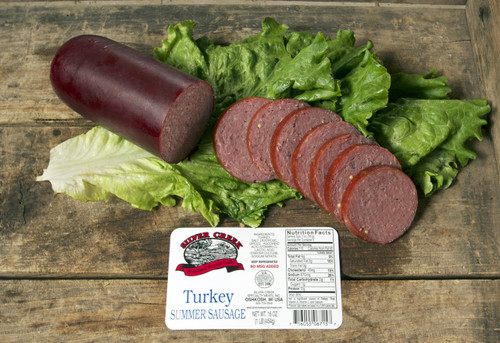 Silver Creek Turkey Summer Sausage makes a unique addition to any party platter
