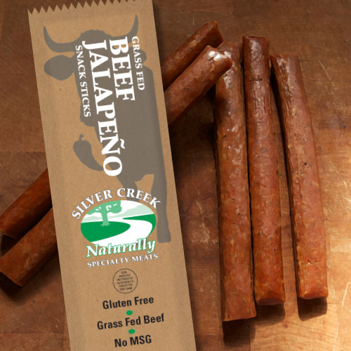 1.2 oz Packages of our All Natural Beef w/ Jalapeno Snack Sticks