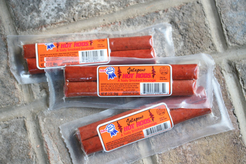 Try the Jim's Blue Ribbon 2 oz. Hot Rods in Plain & Jalapeno!