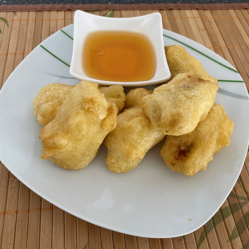 Pineapple Fritters with Syrup