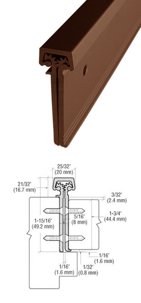 "Aluminum Geared Continuous Hinge Concealed W/Edge 95"" Bronze Finish"