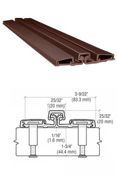 "Aluminum Geared Continuous Hinge Full Surface 83"" Bronze Finish"