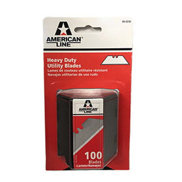 American Line 2 Notch Heavy Duty Utility Blade Carbon Steel - 66 - 0240