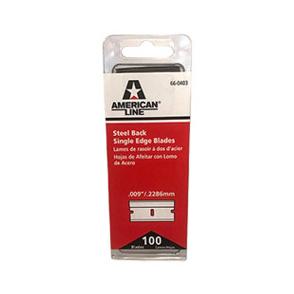 American Line Heavy Duty Carbon Steel Single Edge Blades - 66 - 0403