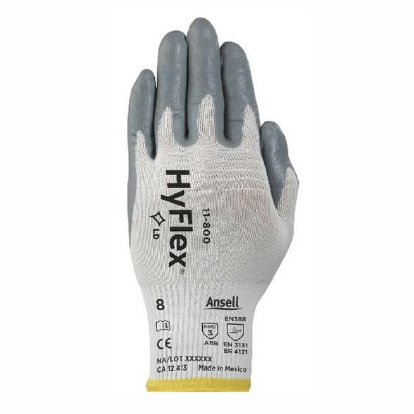 Ansell HyFlex Nylon Foam Nitrile Coated Glass Handling Gloves