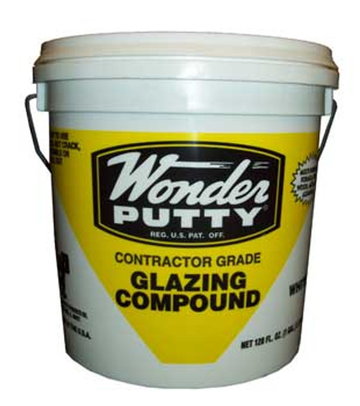 Atlas Wonder Putty Window Glazing Compound White Gallon