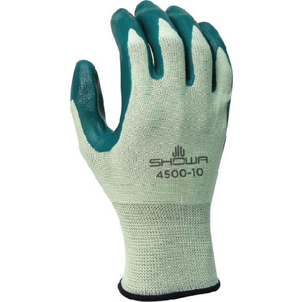 SHOWA Nitrile Palm Coated Work Gloves W/Nylon Knit & Knit Wrist