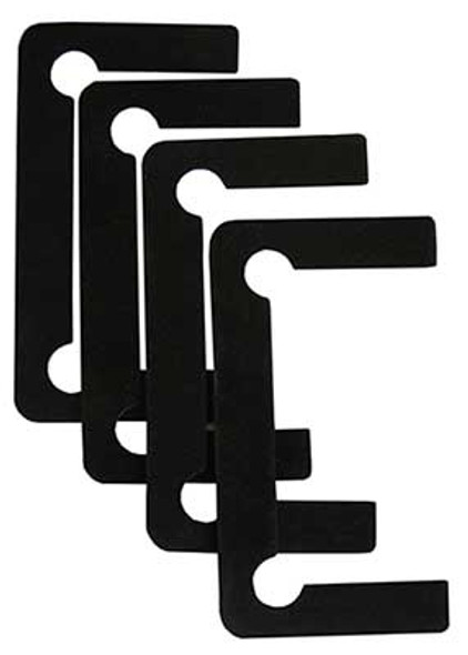Black Neoprene Jumbo Size Shower Door Hinge Replacement Gasket Set