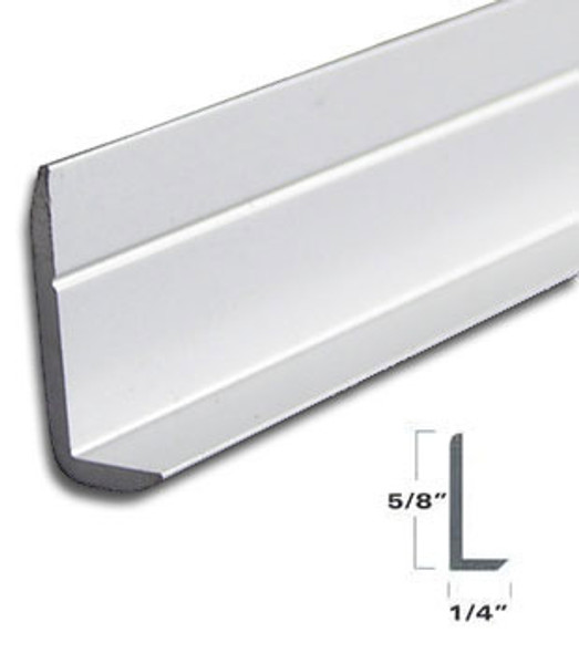 """Brite Anodized 1/4"""" x 5/8"""" L Angle for Mirror and Trim 95"""""""