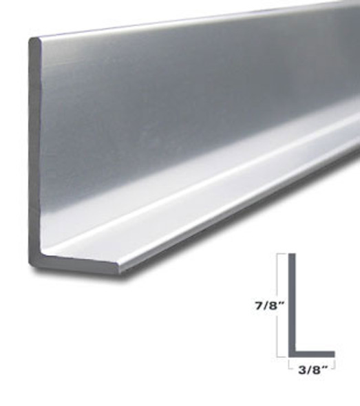 """Brite Anodized 3/8"""" x 7/8"""" L Angle for Mirror and Trim 95"""""""