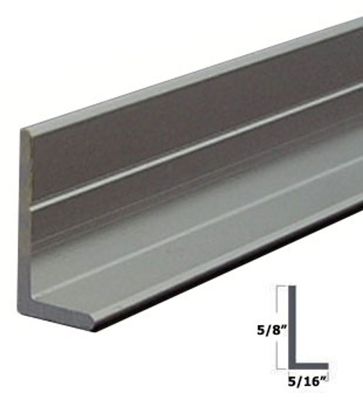 """Brite Anodized 5/16"""" x 5/8"""" L Angle for Mirror and Trim 47-7/8"""""""