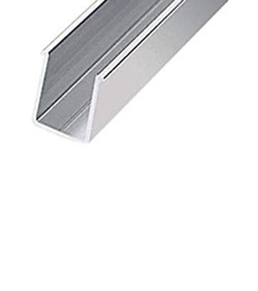 "Brite Anodized Aluminum 36"" Shower Door Header Pocket Filler"