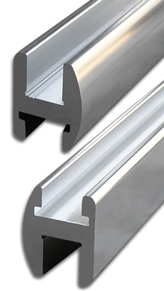 "Brite Anodized Aluminum 95"" Frameless Shower Door Header"