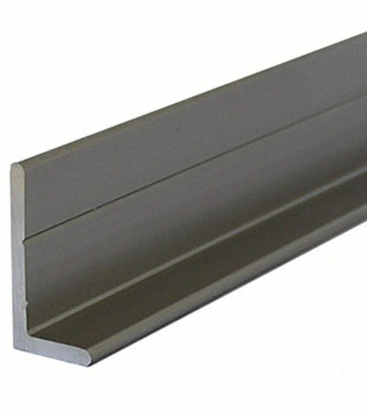 Brushed Nickel L Angle for Mirror and Trim
