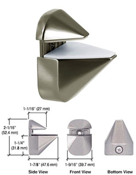 Brushed Nickel Adjustable Shelf Clamp Brackets