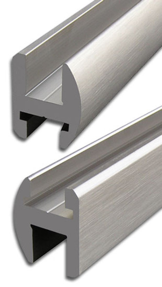 "Brushed Nickel Aluminum 95"" Frameless Shower Door Header"