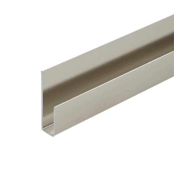 """Brushed Nickel Aluminum Deep J Channel for 1/4"""" Mirror Support 95"""""""