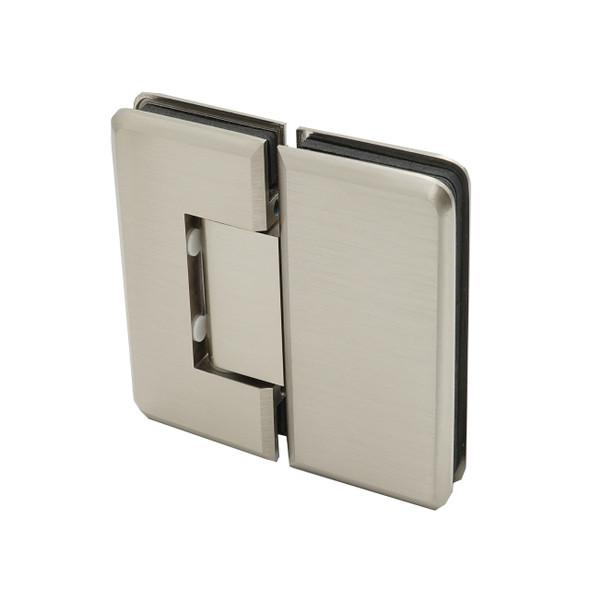Brushed Nickel Cambridge 180 Degree Glass To Glass Shower Door Hinge