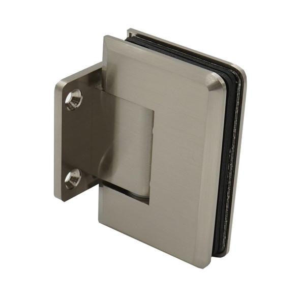 Brushed Nickel Cambridge Wall Mount Short Back Plate Shower Door Hinge