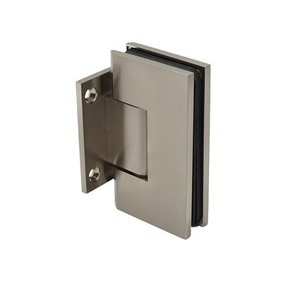 Brushed Nickel Kingston Wall Mount Short Back Shower Door Hinge