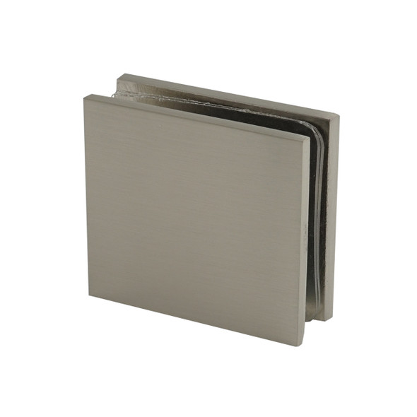 Brushed Nickel Plaza Wall Or Curb Mount Frameless Shower Glass Clip