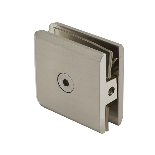 Brushed Nickel Rotunda Wall Or Curb Mount Frameless Shower Glass Clip