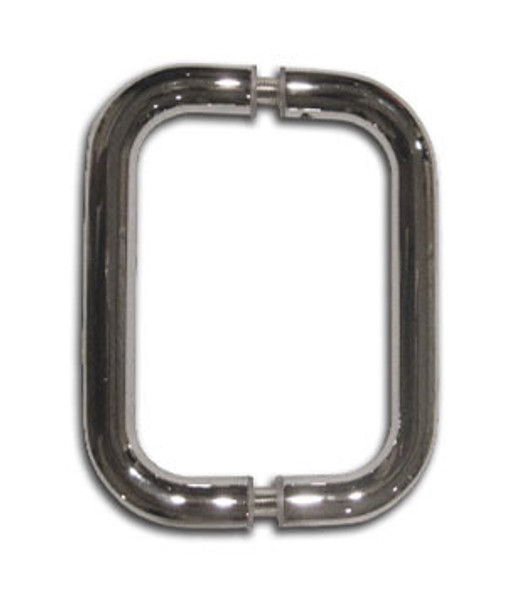 "Chrome  6"" Back To Back Tubular Shower Door Pull Handles"