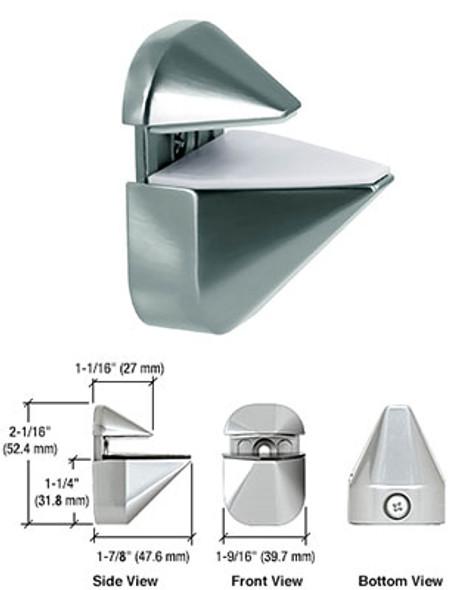 Chrome Adjustable Shelf Clamp Brackets