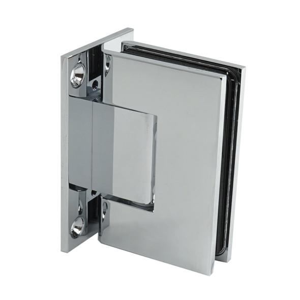 Chrome American Classic Wall Mount Full Back Plate Shower Door Hinge