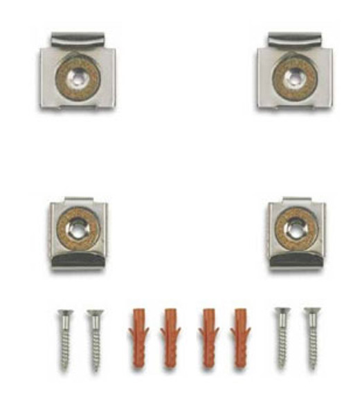 Chrome Plated Easy Mount Mirror Clip Set