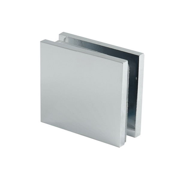 Chrome Plaza Wall Or Curb Mount Frameless Shower Glass Clip