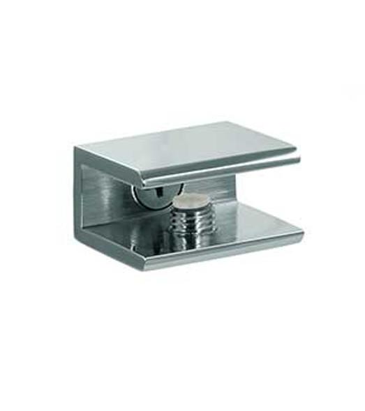 """Chrome Square Interior Shelf Clamp for 5/16"""" to 3/8"""" Glass"""