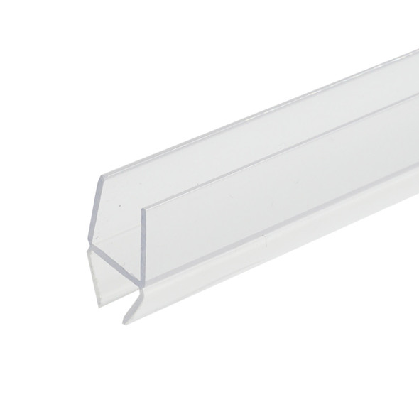 """Clear """"H"""" Wipe Shower Door Seal For 1/4"""" Glass- 95"""" Long"""