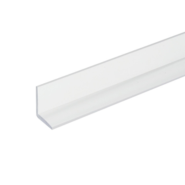 """Clear """"L """" Angle Shower Door Strike Jamb Seal- 95"""" Long"""